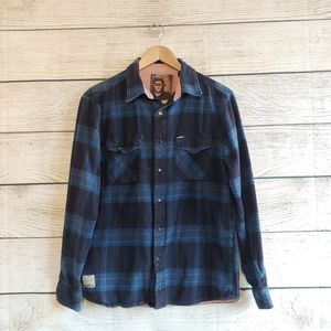 💟5/$25 Matrix Flannel Long Sleeve Button Down M